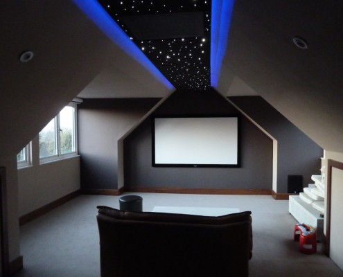cinema loft conversion room
